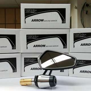 Motovation Barends with CRG Arrow Mirrors for Honda CB150R ExMotion