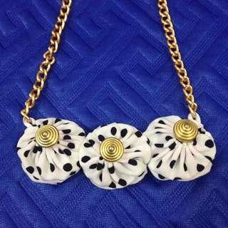 NECKLACE: Choker fabric yoyo necklaces