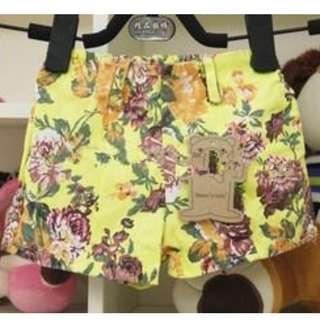 BVGP001 : High Waist Floral Printed Short Pants