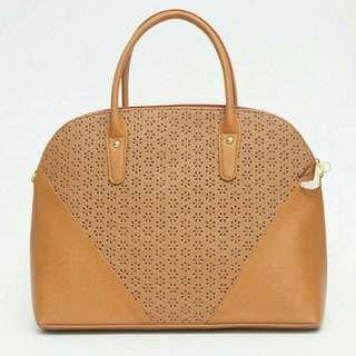 Brown Laser Cut Bag