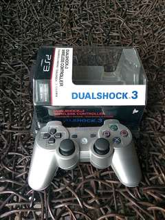 Authentic/Original PS3 Dualshock wireless controller (Silver)