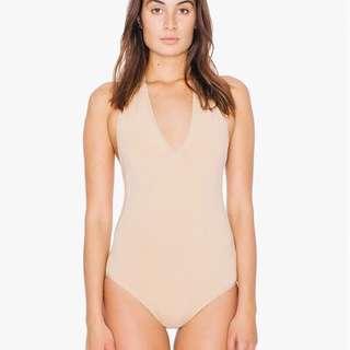 Nude American Apparel bodysuit