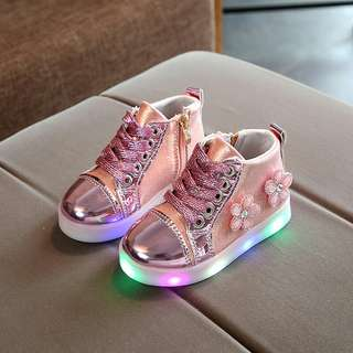 3D GLITTERY FLOWER LED Shoes (2Y - 4Y)