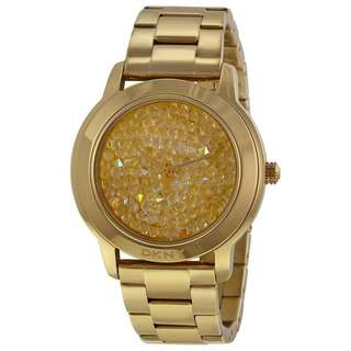 GOLD-TONE DIAL GOLD-TONE STAINLESS STEEL BRACELET LADIES WATCH NY8437