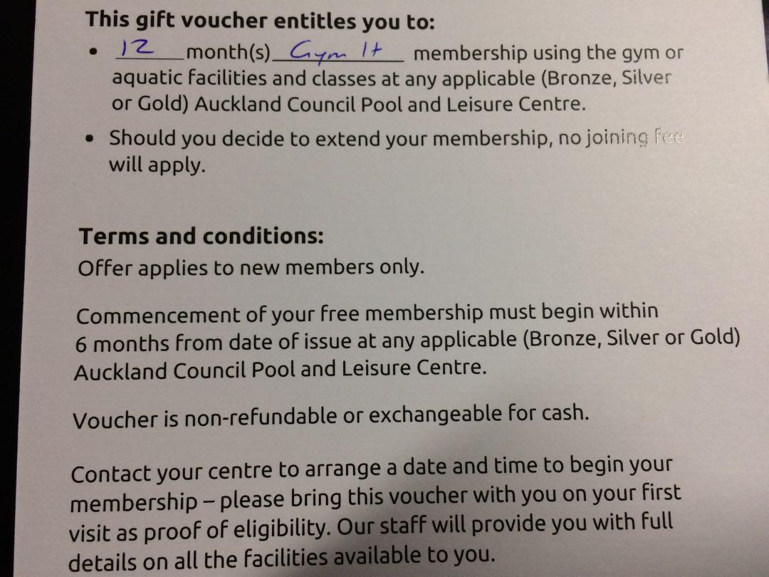 12 Months Gym Membership