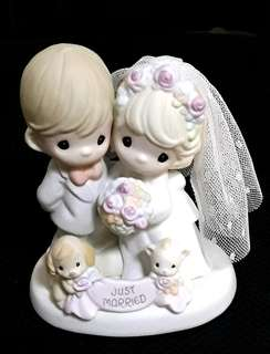 PRECIOUS MOMENTS - Til The End Of Time (Porcelain Bisque Figurine)