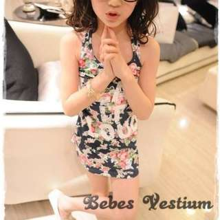 BV GD011: Floral Printed Elastic Dress