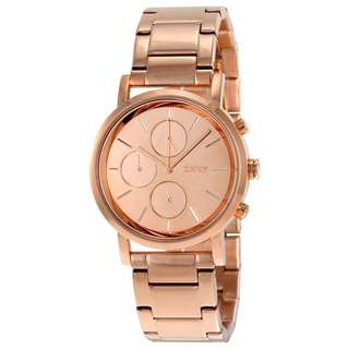 LEXINGTON CHRONOGRAPH ROSE DIAL ROSE GOLD-PLATED LADIES WATCH NY8862