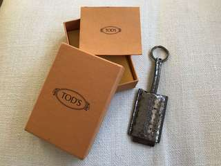 Tod's luggage tag / key chain / charm