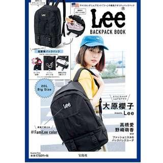 日本雜誌 Lee BACKPACK BOOK 附贈 潮牌 黑色 黑標 大容量 休閒後背包 雙肩包 肩背包 背包 書包