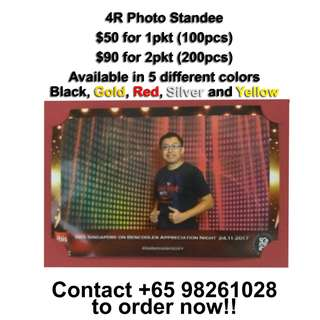 4R Photo Standee for sale!! Good for event photobooth!! 5 different colours available!!