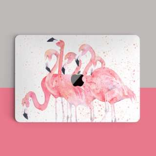 🚚 Herd of Pink Flamingo Watercolour Macbook Vinyl Decal