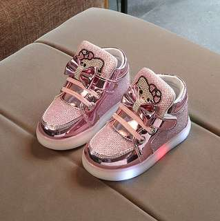 GLITTERY KITTY LED Shoes (2Y - 7Y)