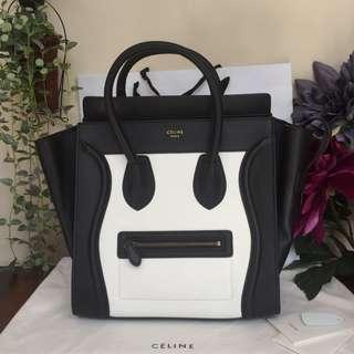 Preloved CELINE Mini Luggage Black & White