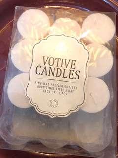 Votive candles (8pcs)
