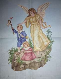 Guardian Angel-cross stitch
