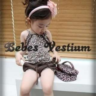 BV GS005 : Leopard Printed Tops with Lantern Short Pants (Set)
