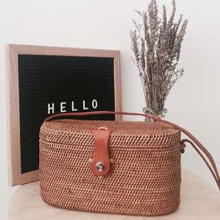 [IN-STOCK] Alexa Wicker Basket Rattan Bag