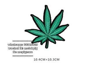 大麻葉汽車防水反光貼紙
