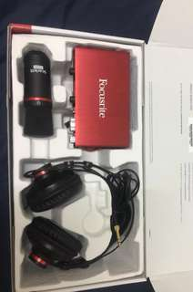 Focusrite scarlett 2i2 second gen audio interface