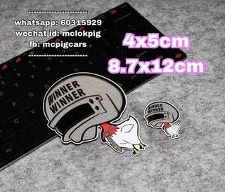 食雞反光防水汽車貼紙
