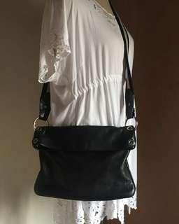 Bally sling bag leather