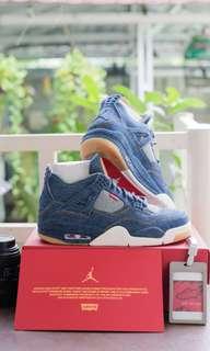 Air Jordan X 4 Levis Blue Denim