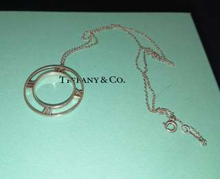Tiffany Altas Collection Silver Pendant Necklace 純銀頸鏈(頸鍊)