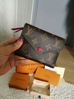 💯 AUTHENTIC BRAND NEW LV Wallet BRAND NEW AUTHENTIC LV Wallet VICTORINE  Fuchsia PINK COMPACT SMALL Louis vuitton