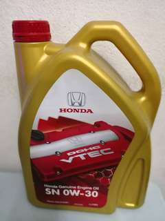 Honda Genuine Engine Oil SN 0W-30