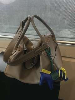 正品 Hermes Lindy 30 etoupe swift leather