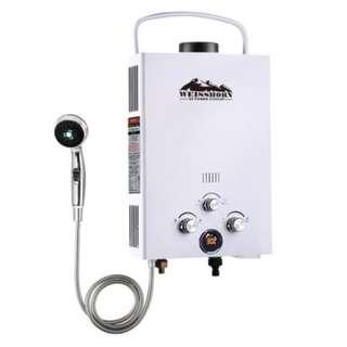 Outdoor Gas Water Heater - White