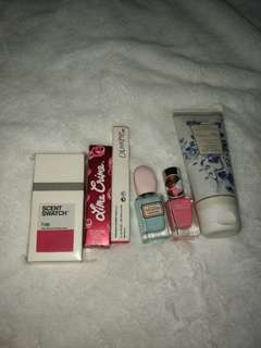 M&S lotion, nail polish, perfume and lippies