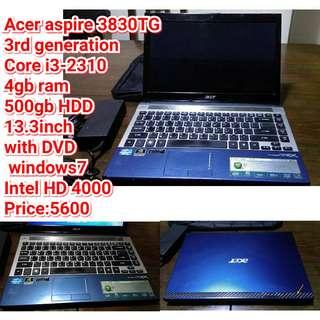 Acer aspire 3830TG
