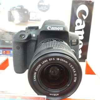 Kamera Canon EOS 750d DSLR (Kredit MURAH)