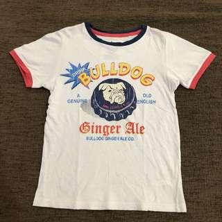 Tshirt bulldog Gingersnaps