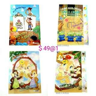 日本製 迪士尼 大鼻鋼牙 奇奇蒂蒂 toystory 五層文件夾 A4file