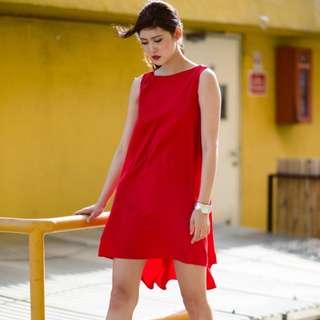 [FABFAD] Heads Turner Hi-Lo Dress - Red