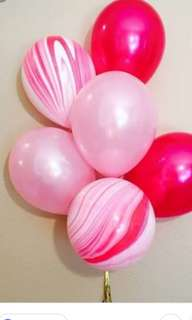 Marble balloons_ Pink