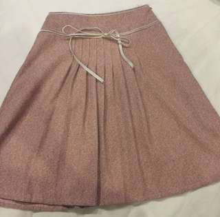 Dusky Rose Pleated Skirt