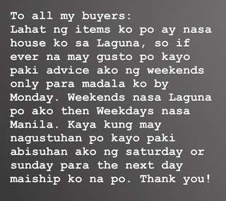 To All My Buyers
