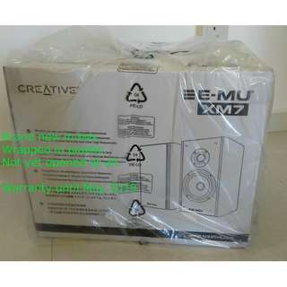 Creative Emu XM7 speakers (BNIB, warranty until end May 2019)