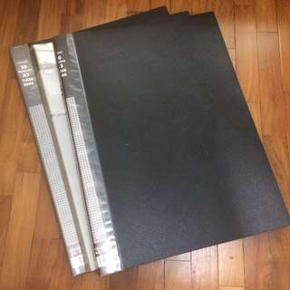 3 Great Condition A3 Black Files