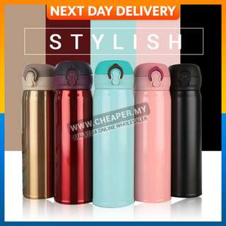 Stainless Steel Thermos Coffee Tea Milk Bottle Vacuum Insulation Thermal