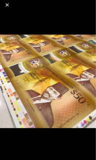 40-in-1 Commemorative Brunei Uncut Notes