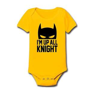 Baby Statement Onesies - Im up all Knight