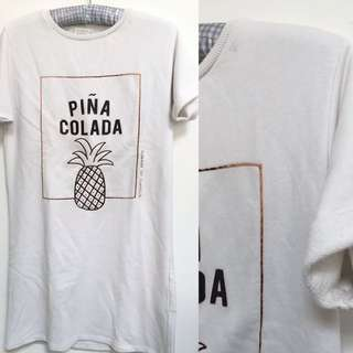 Pull & Bear Pina Colada Long T Shirt