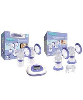[Used Once Only] Lansinoh Signature Pro Double Electric Breast Pump come with extra pumping set