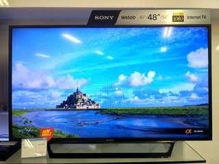 """Sony 48"""" Smart TV Promo Free 1X Angsuran Tanpa Kartu Kredit Proses Cepat"""