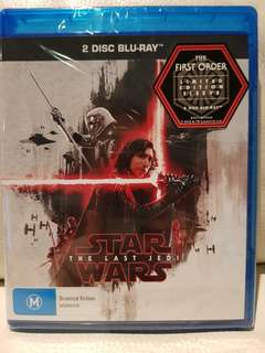 STAR WARS The Last Jedi: 2 disc BLU-RAY